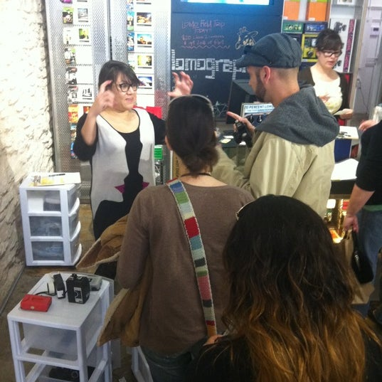 Photo taken at Lomography Gallery Store Austin by Rachel Y. on 1/28/2012