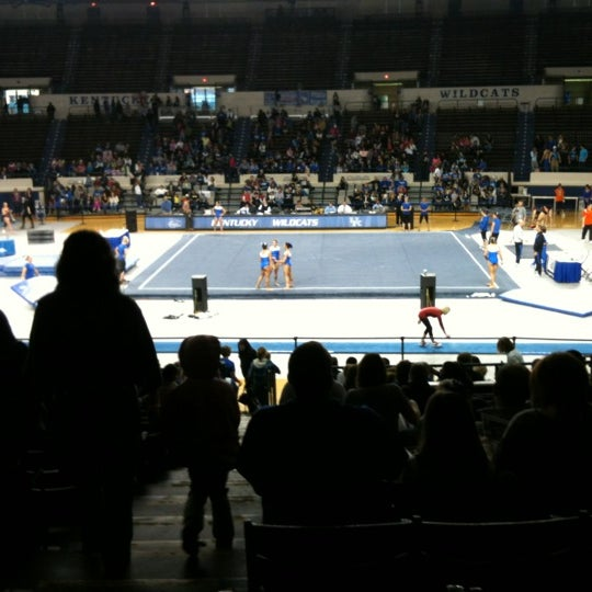 Photo taken at Memorial Coliseum by Kim F. on 1/7/2012