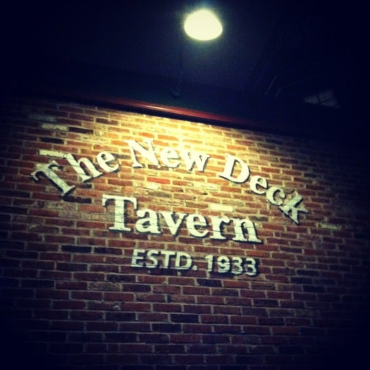 Photo taken at New Deck Tavern by Brittany H. on 8/15/2012