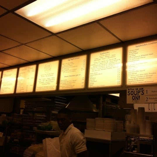 Photo taken at Bodo's Bagels by Tina T. on 2/18/2012