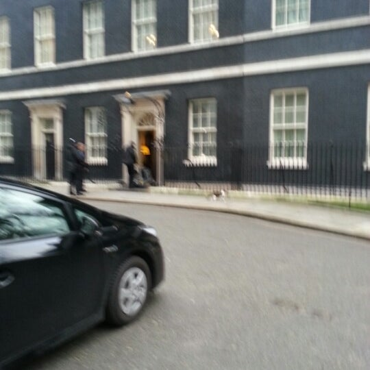 Photo taken at 10 Downing Street by Ronan S. on 1/17/2013