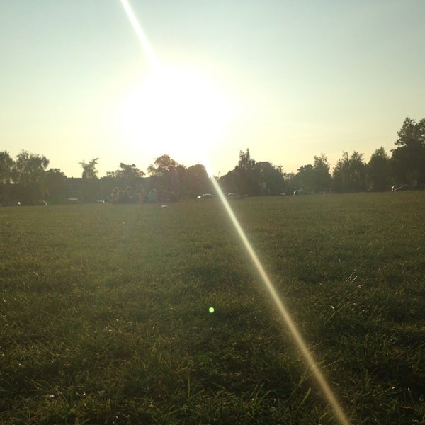 Photo taken at Clapham Common by Liam T. on 7/7/2013