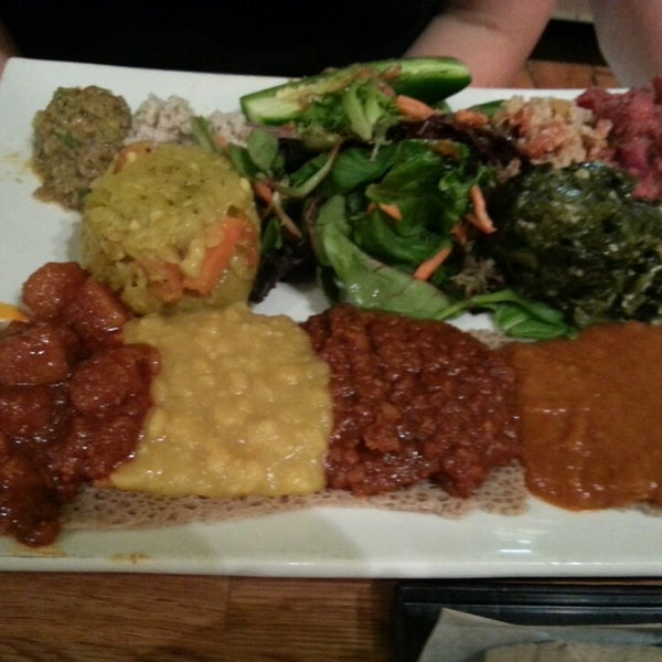 photo taken at desta ethiopian kitchen by vickie d on 942013 - Desta Ethiopian Kitchen