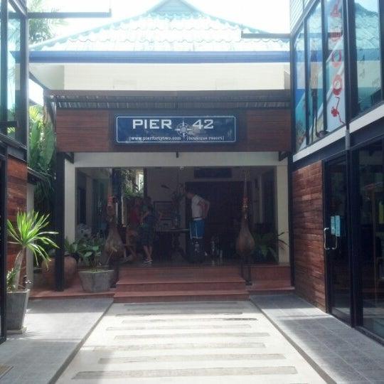 Photo taken at Pier 42 Boutique Resort by Sarah B. on 2/6/2013