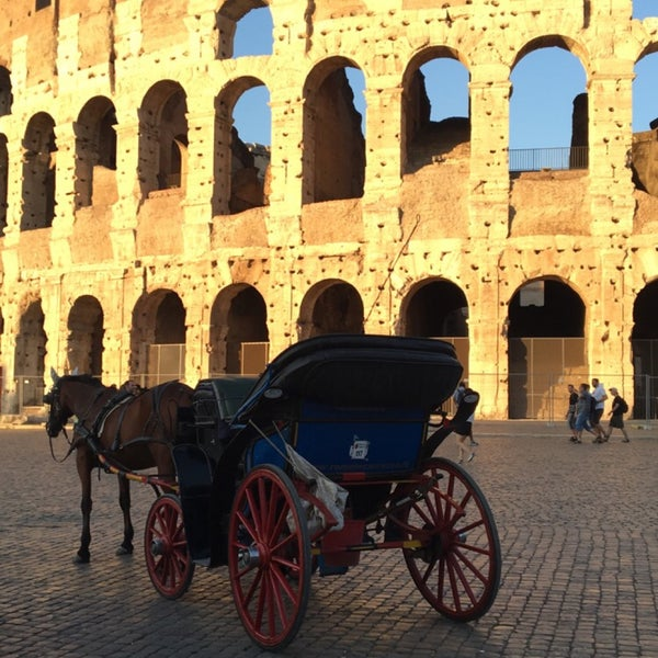 Photo taken at Piazza del Colosseo by Rasha K. on 8/29/2016