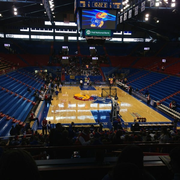 Photo taken at Allen Fieldhouse by Mike on 3/2/2013
