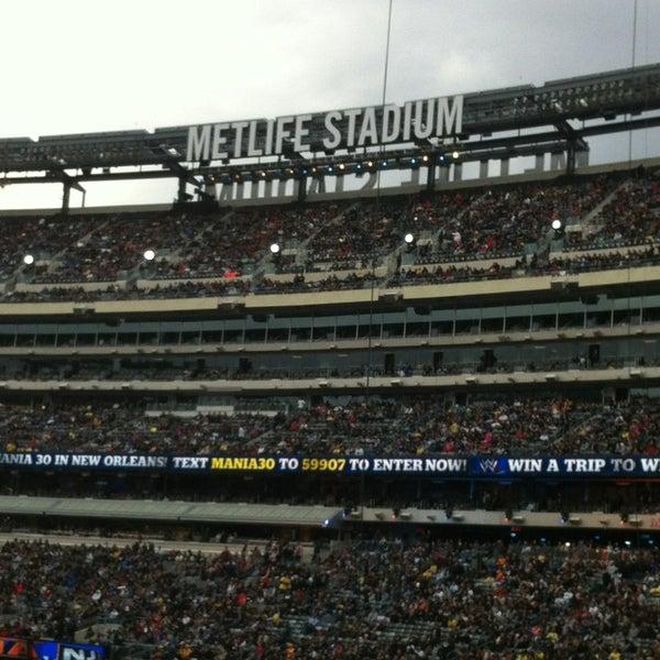 Photo taken at MetLife Stadium by Effie B. on 4/10/2013