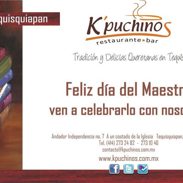Este día del Maestro en K'puchinos !!!