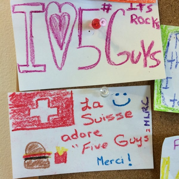 Photo taken at Five Guys by Rick F. on 4/20/2014