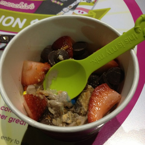 Photo taken at Menchie's Red Bug Village by Lesley S. on 1/29/2013