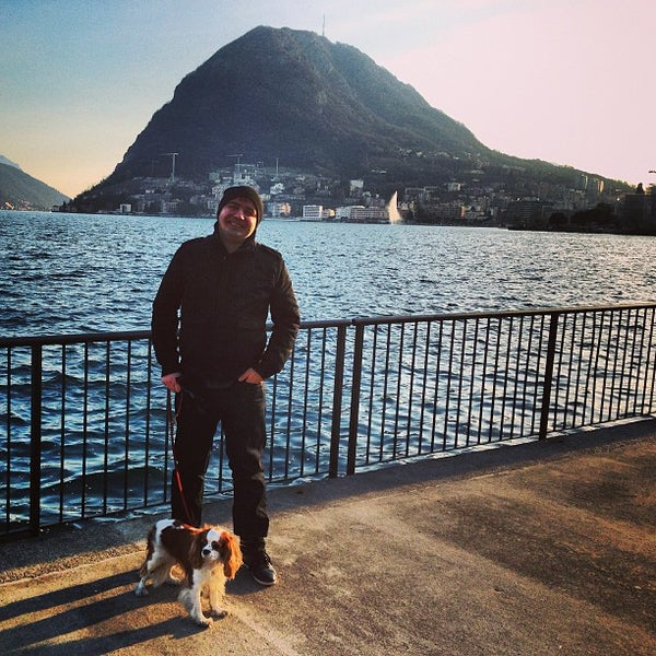 Photo taken at Lago di Lugano by Vitaly T. on 2/10/2013