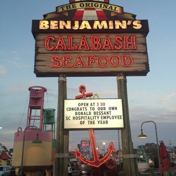 Photo taken at The Original Benjamin's Calabash Seafood by Ben B. on 3/22/2013