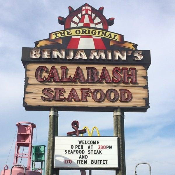 Photo taken at The Original Benjamin's Calabash Seafood by Ben B. on 7/11/2014