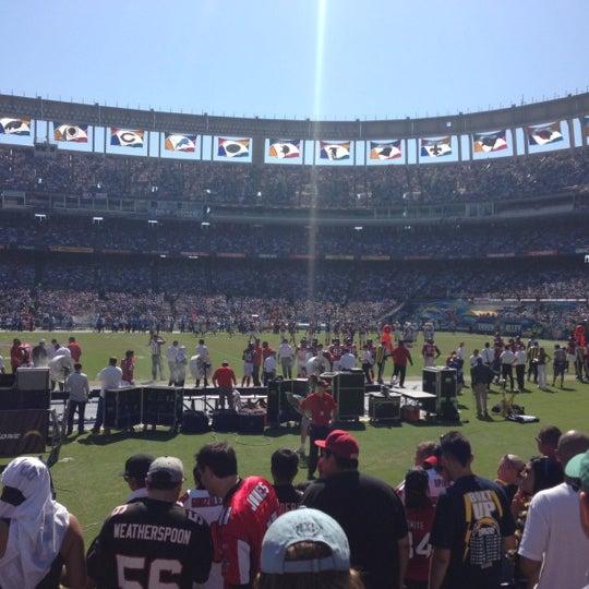 Photo taken at Qualcomm Stadium by Spencer F. on 9/23/2012