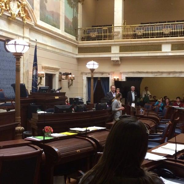 Photo taken at Utah State Senate by Steve S. on 2/27/2014