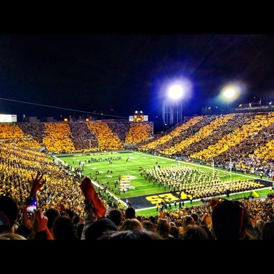 Photo taken at Kinnick Stadium by Kerri S. on 10/21/2012