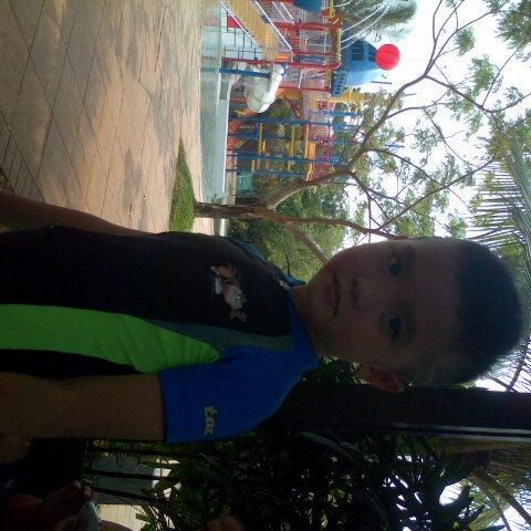 Photo taken at Waterbom Jakarta by widi o. on 10/4/2012