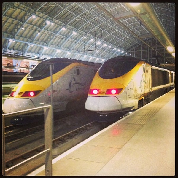 Photo taken at London St Pancras International Railway Station (STP) by Vasily C. on 2/26/2013