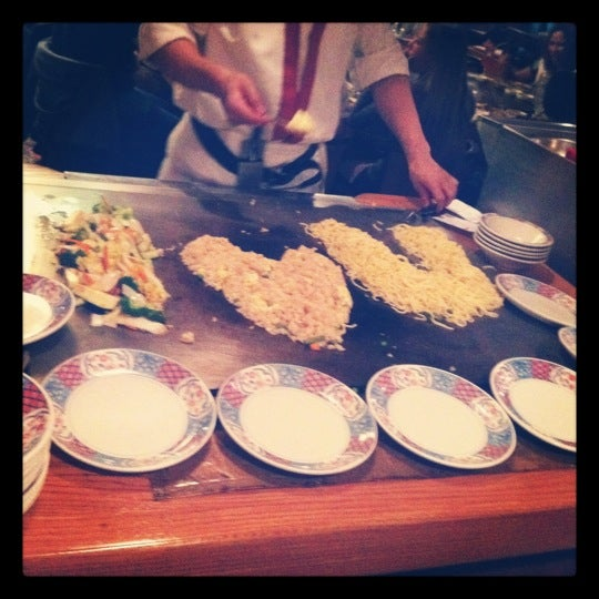 Photo taken at Mt. Fuji Japanese Steak House by Brian P. on 10/15/2012
