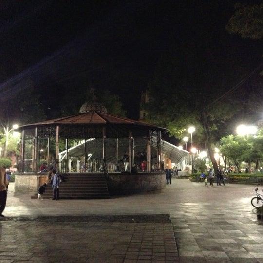 Photo taken at Jardín Hidalgo by Octavio C. on 11/9/2012