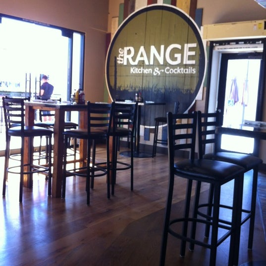 Photo taken at The Range Kitchen & Cocktails by Jamie H. on 10/3/2012