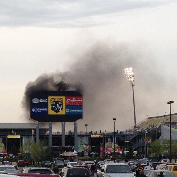 Photo taken at MAPFRE Stadium by Kelly Jo L. on 4/27/2013