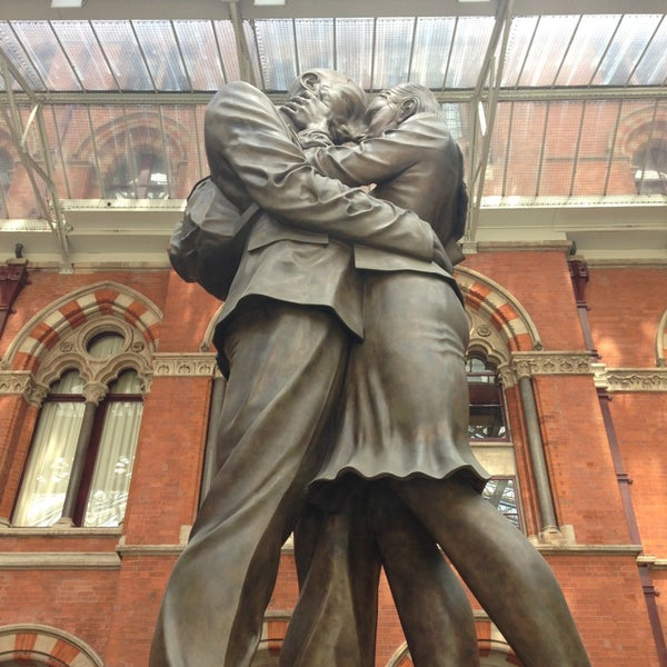 Photo taken at London St Pancras International Railway Station (STP) by Anna M. on 5/31/2013