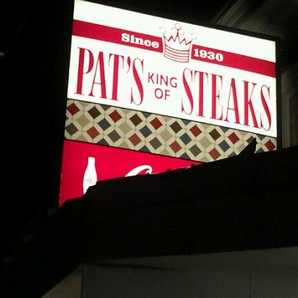 Photo taken at Pat's King of Steaks by Jamee on 10/23/2012