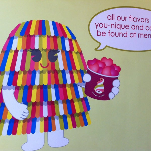 Photo taken at Menchie's Red Bug Village by Myriam S. on 2/19/2013