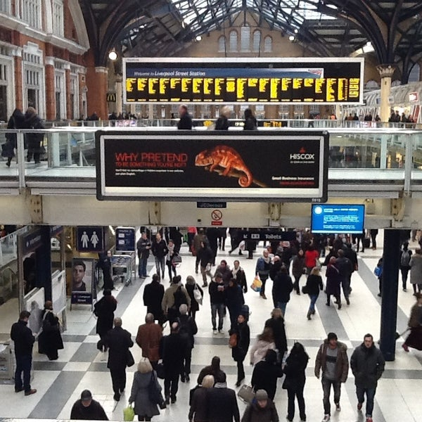 Photo taken at London Liverpool Street Railway Station (LST) by Keven C. on 3/28/2013
