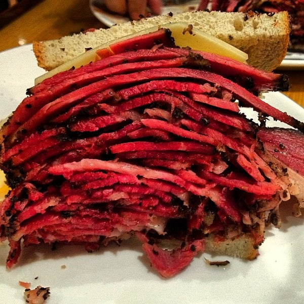 Photo taken at Carnegie Deli by Dave M. on 2/17/2013