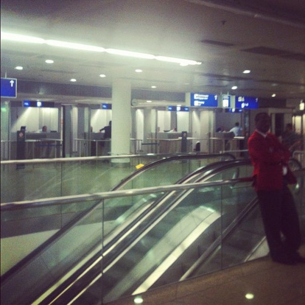 Photo taken at Gate A25 by Maria V. on 9/28/2012