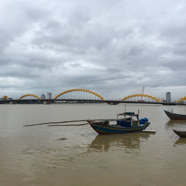 Photo taken at Han River Bridge by Anna O. on 12/29/2016