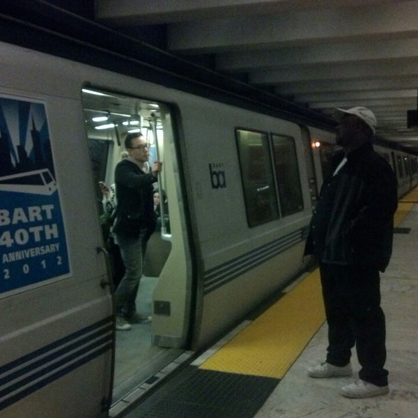 Photo taken at Civic Center/UN Plaza BART Station by Edi G. on 5/27/2013