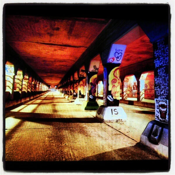 Photo taken at Krog Street Tunnel by Chad D. on 10/25/2012