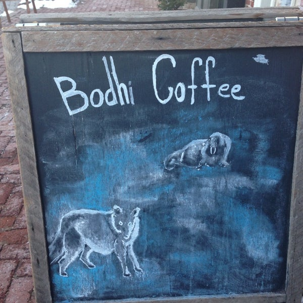 Photo taken at Bodhi Coffee by Adria L. on 2/11/2014
