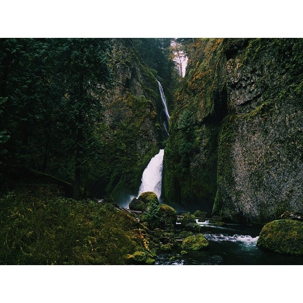 Photo taken at Wahclella Falls Trail by Tucker S. on 4/8/2015