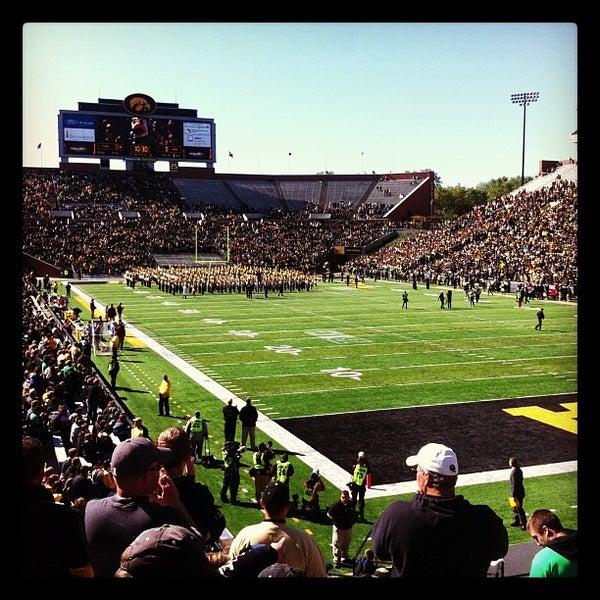 Photo taken at Kinnick Stadium by Annie on 9/22/2012