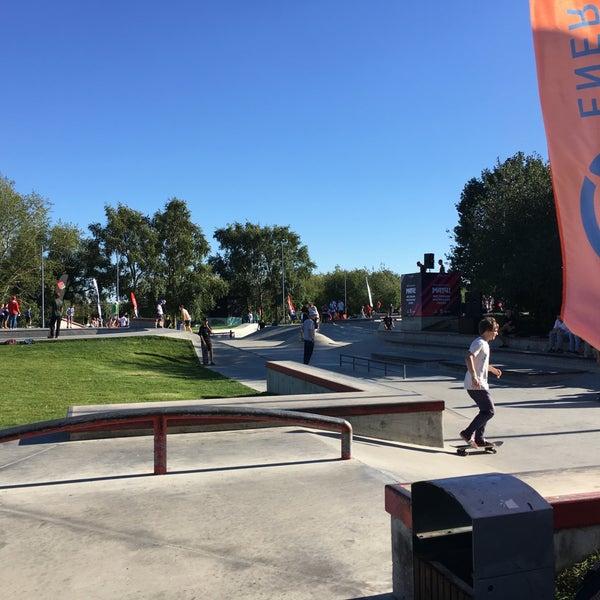 Das Foto wurde bei Скейт-парк «Садовники» von 🌸Anna B. am 8/28/2016 aufgenommen