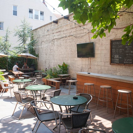 This Flatbush bar's got a solid backyard space no matter the season. They serve up a stellar selection of whiskey, beer, and wine, along with bar food and small bites from local food vendors.