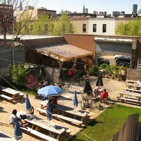 This Greenpoint beer bar is our favorite place to hang outdoors with a cold brew or two, considering their backyard is massive and boasts a hot dog-making grill that's clutch in the summer.