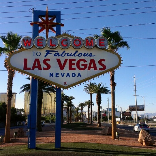 Photo taken at Welcome To Fabulous Las Vegas Sign by Anna Eunbyul C. on 6/19/2013