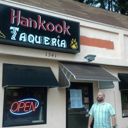 Photo taken at Hankook Taqueria by Peter T. on 9/15/2012