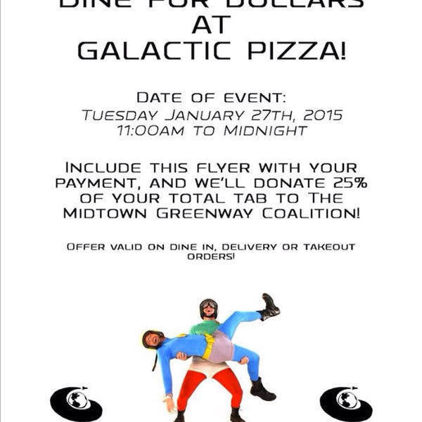 Foto tomada en Galactic Pizza por Laura v. el 1/27/2015