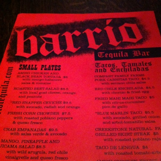 Photo taken at Barrio Tequila Bar by Laura v. on 12/15/2012