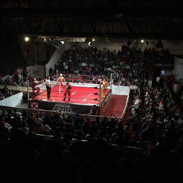 Photo taken at Arena Adolfo Lopez Mateos by RenÈ O. on 3/6/2016