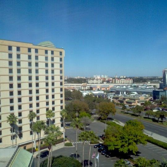 Photo taken at Rosen Plaza Hotel by Larry T. on 1/31/2013