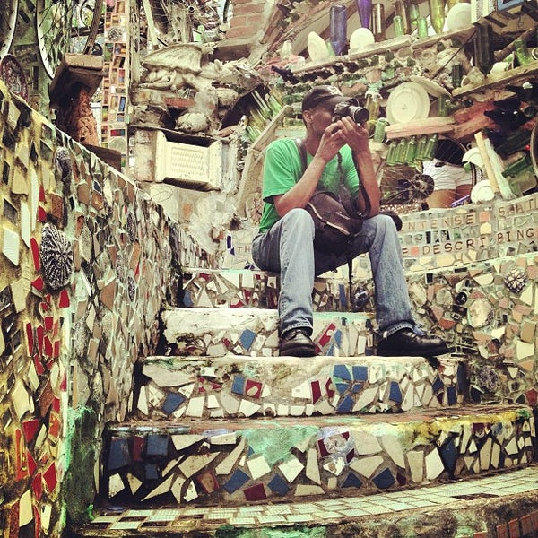 Photo taken at Philadelphia's Magic Gardens by Michael R. on 7/3/2013