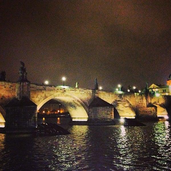 Photo taken at Charles Bridge by Gius on 3/12/2013
