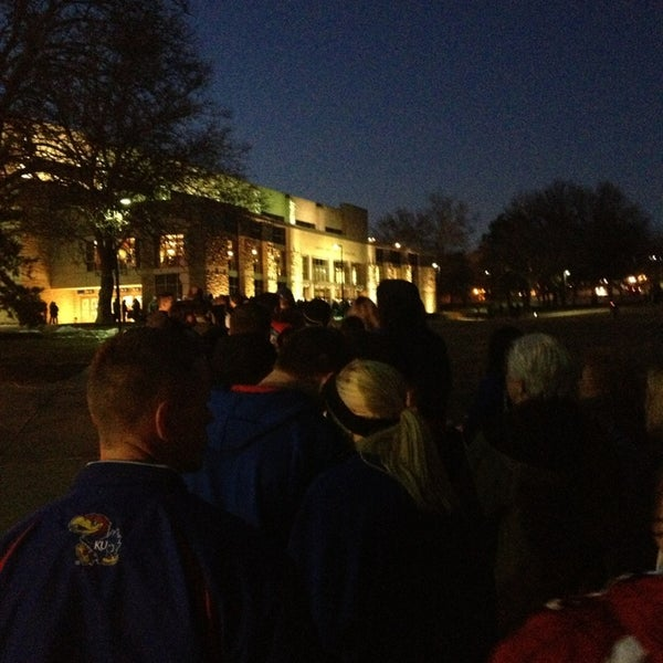 Photo taken at Allen Fieldhouse by Kaitlyn H. on 12/29/2012